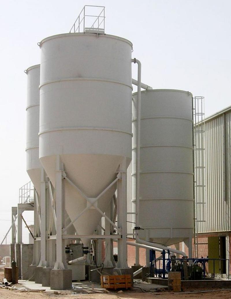Klärsilo mit 6000 Liter/Min